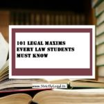 101 legal maxims every law students must know