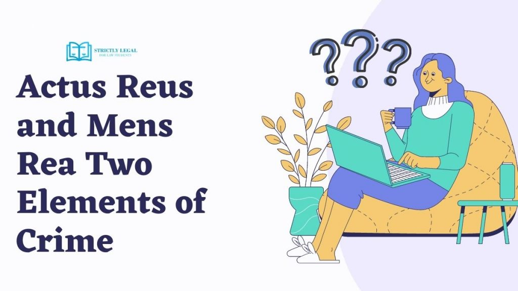 Actus Reus and Mens Rea Two Elements of Crime