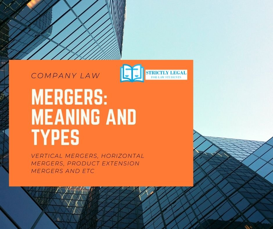 mergers: meaning and types