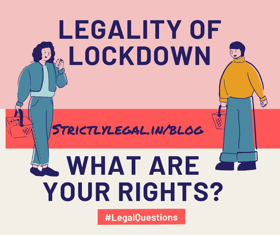 legality of lockdown in india