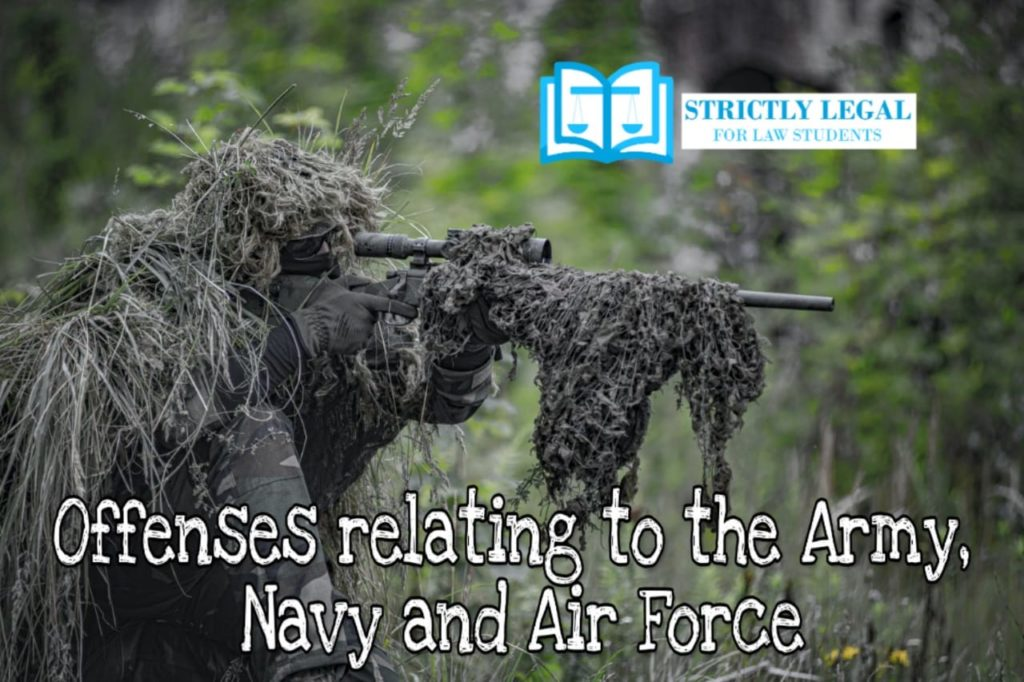 Offenses relating to the Army, Navy, and Air Force ...
