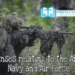 Offenses relating to the Army, Navy, and Air Force.