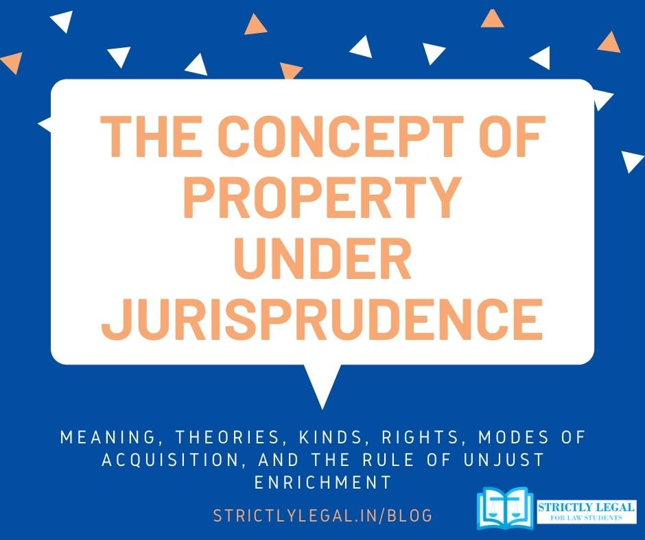 concept of property under jurisprudence