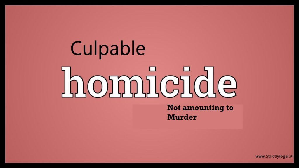 culpable homicide