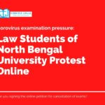 Law Students of North Bengal University Protest Online