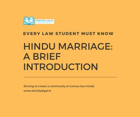Hindu Marriage: A Brief Introduction strictlylegal