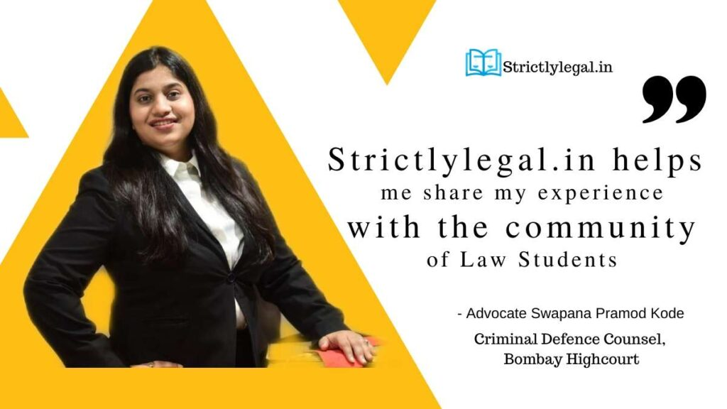 Strictlylegal lets me share my experience with the community of law students.