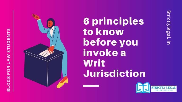 principles for invoking writ jurisdiction