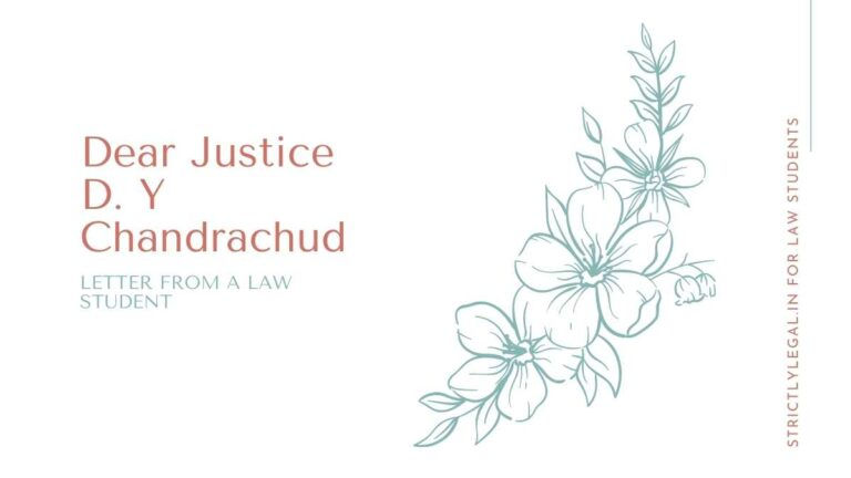 dear justice DY chandrachud