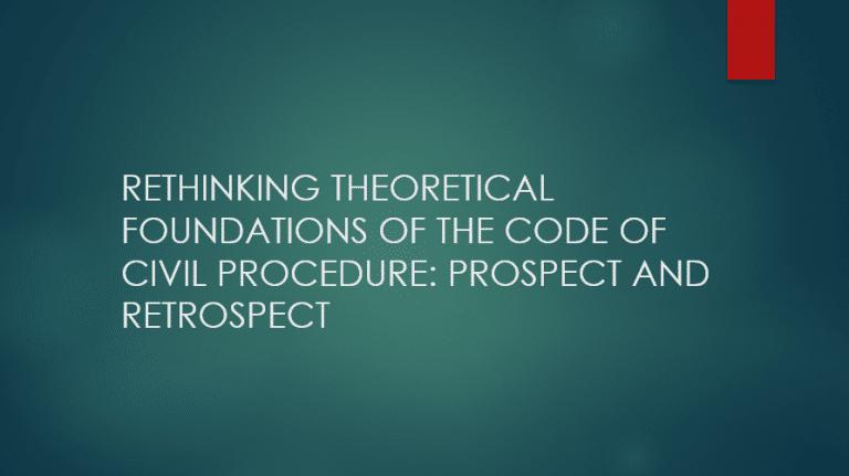 rethinking theoritical