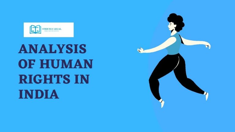 ANALYSIS OF HUMAN RIGHTS IN INDIA