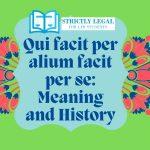 Qui facit per alium facit per se: Meaning and History