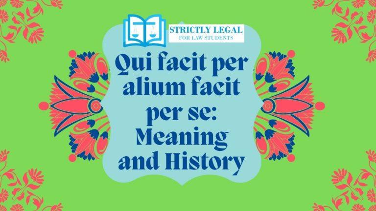 Qui facit per alium facit per se Meaning and History