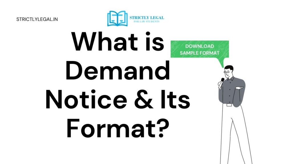 how to draft demand notice