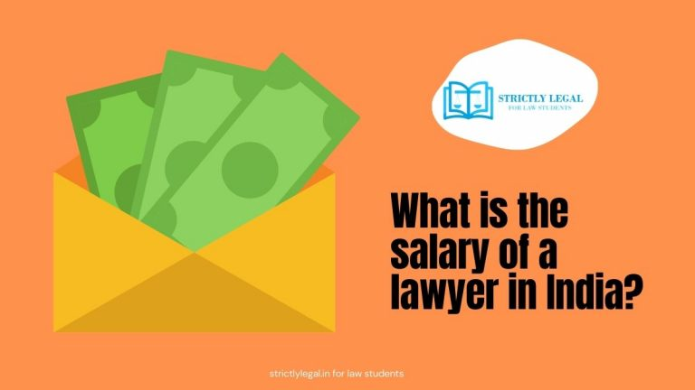 What is the salary of a lawyer in India?