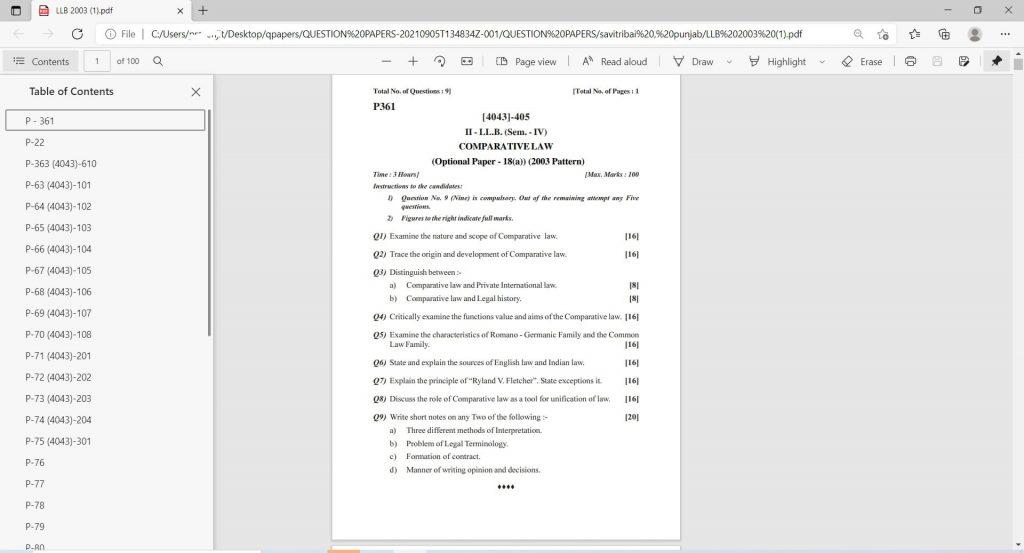 llb question paper semester download-min