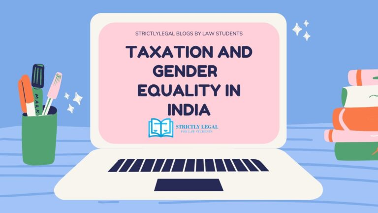 TAXATION AND GENDER EQUALITY IN INDIA